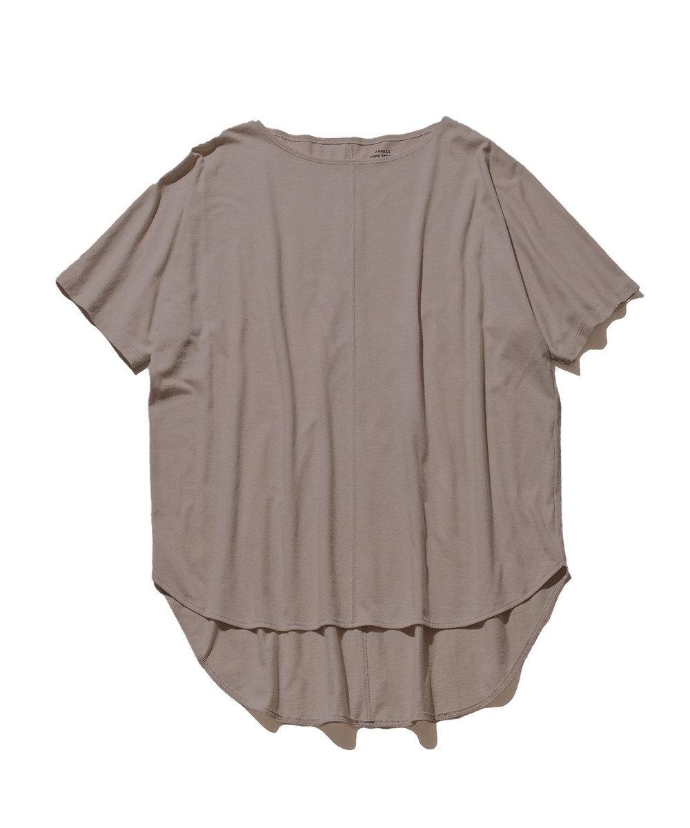J.PRESS YORK STREET 【WOMEN】30/1 天竺 Tシャツ ブラウン系