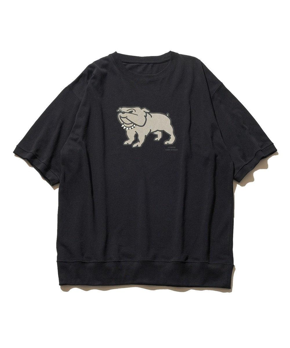 J.PRESS YORK STREET 【UNISEX】ブルドッグプリント Tシャツ ブラック系