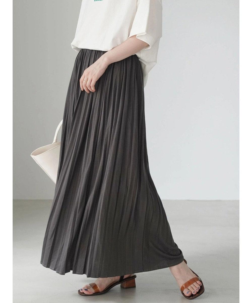 AMERICAN HOLIC カットプリーツスカート Charcoal Gray