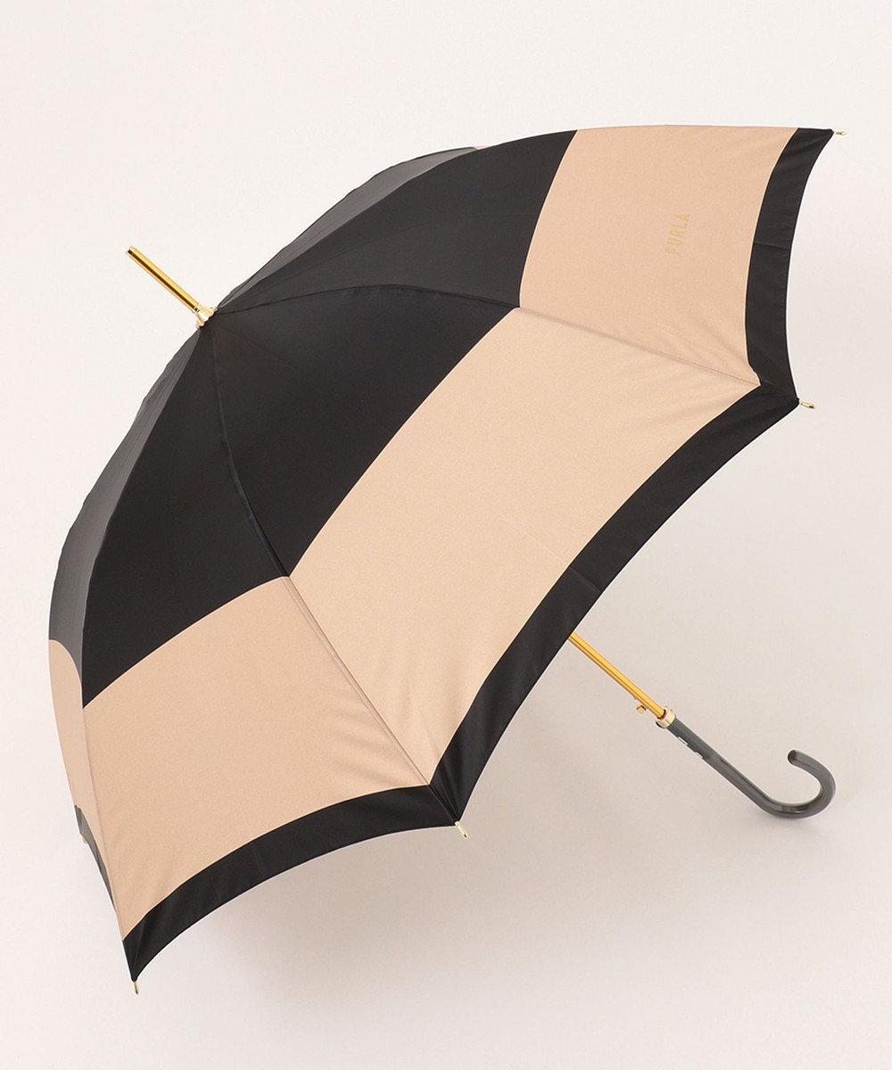 MOONBAT 【耐風】FURLA 長傘 カラーボーダー ブラック