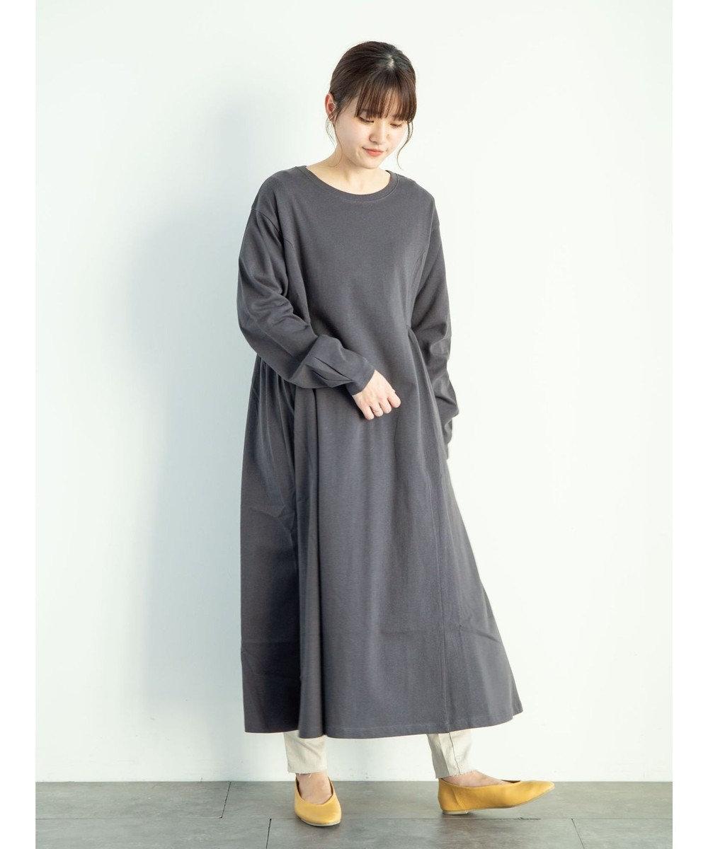 Green Parks ・SUGAR SPOON サイドギャザーワンピース Charcoal Gray
