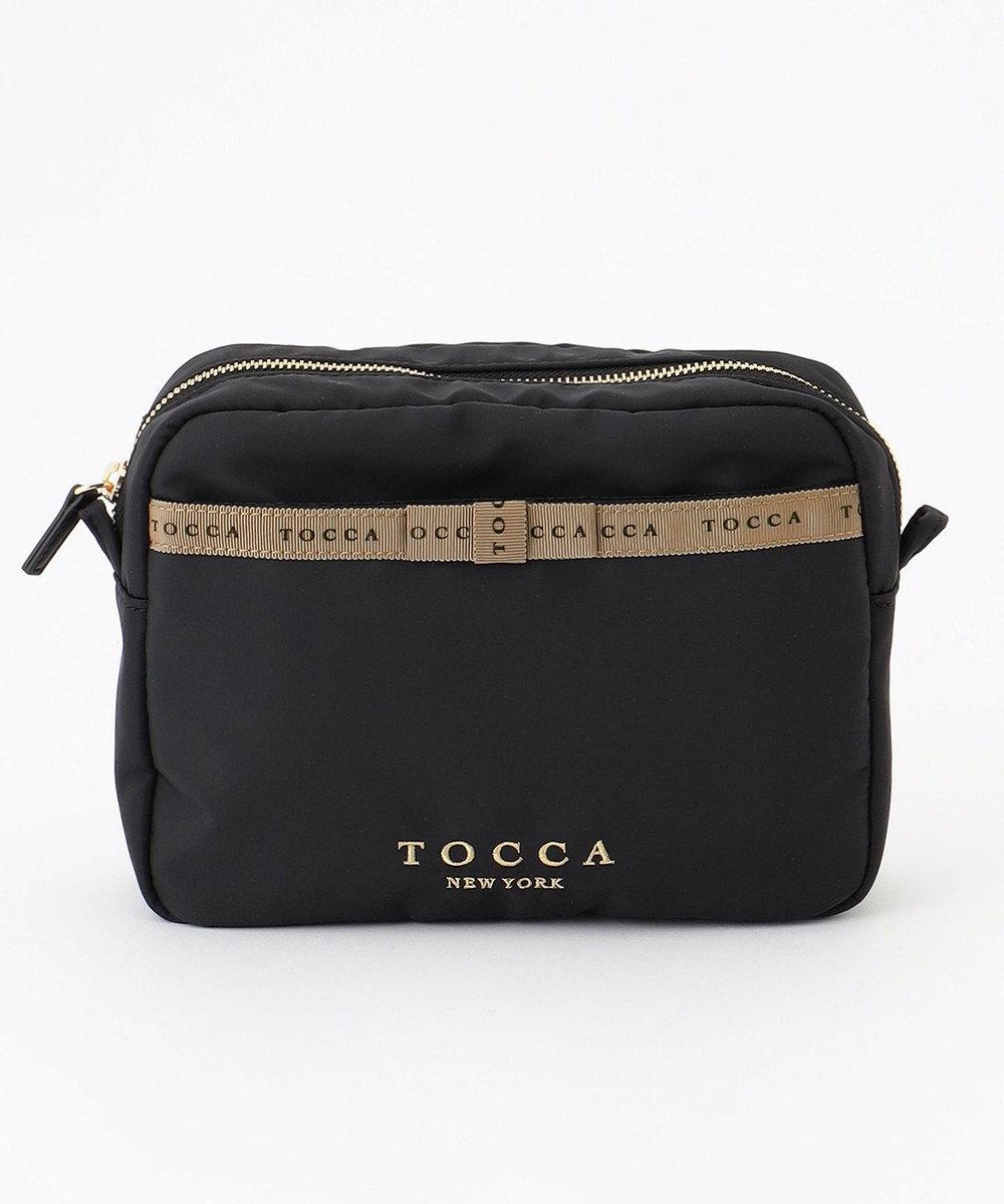 TOCCA LOGO RIBBON BAG IN POUCH バッグインポーチ ブラック系