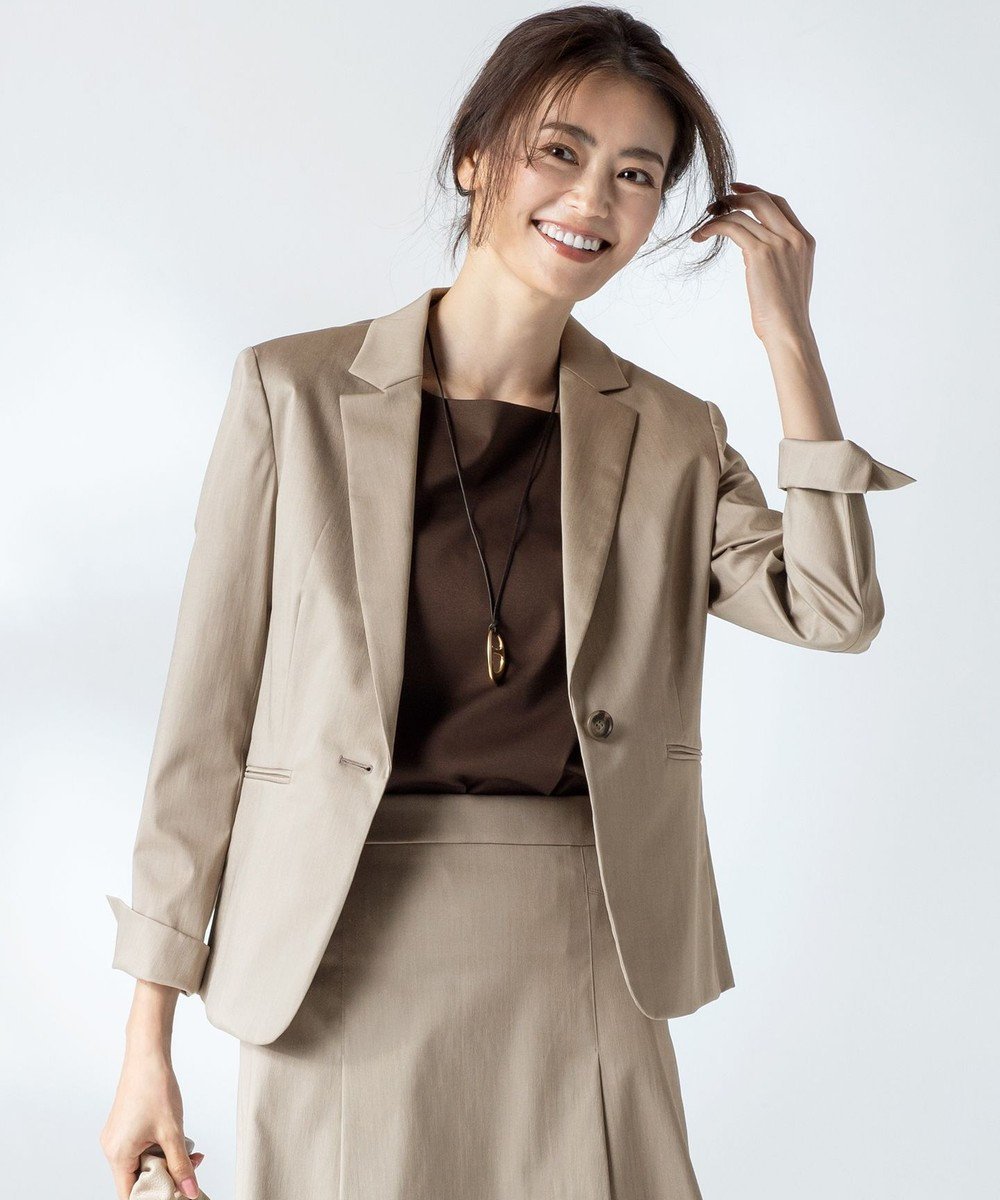 23区 【セットアップ対応】スーピマシャンブレー ジャケット ブラウン系
