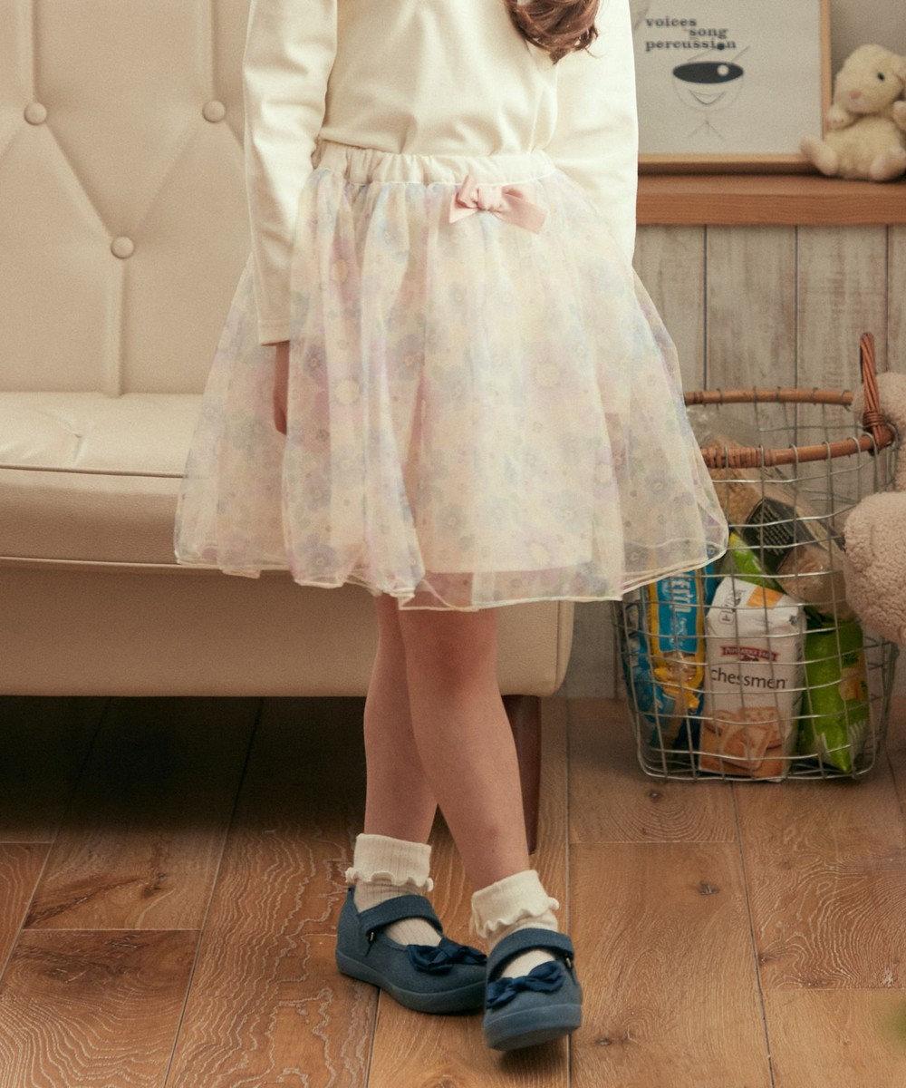 any FAM KIDS リボン付き チュールスカート アイボリー系5