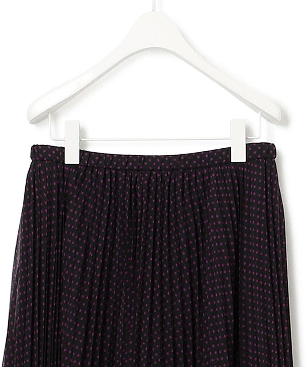 23区 S 【マガジン掲載】スクエアドット プリーツ スカート(番号2C26) ブラック系
