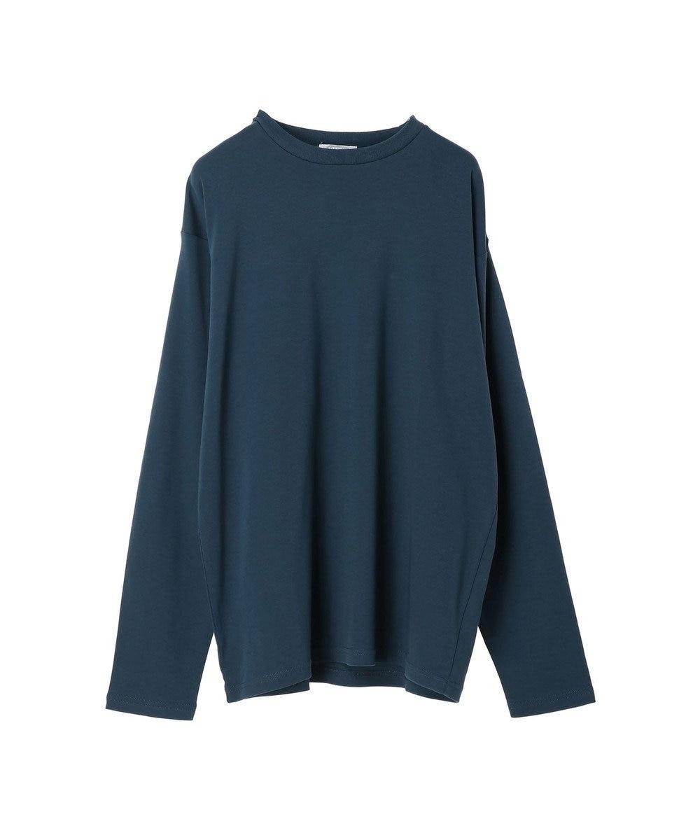 koe 【UNISEX対応】コンパクトスムースクルーネック長袖TEE Dark Blue