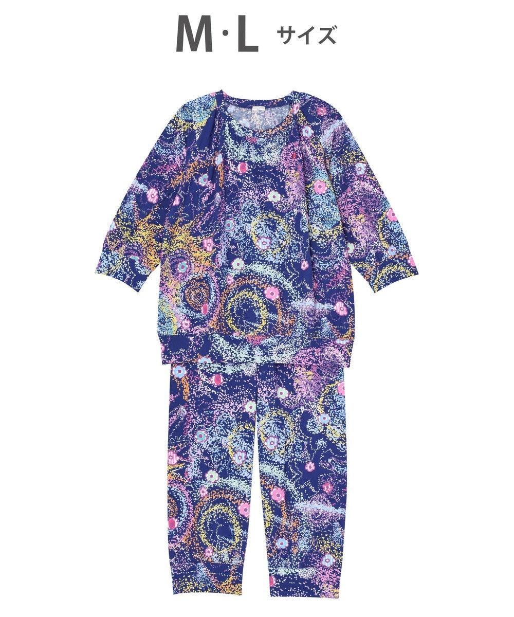 tsumori chisato SLEEP パジャマ 8分袖8分パンツ 太陽、地球、星 /ワコール UDO257 コン