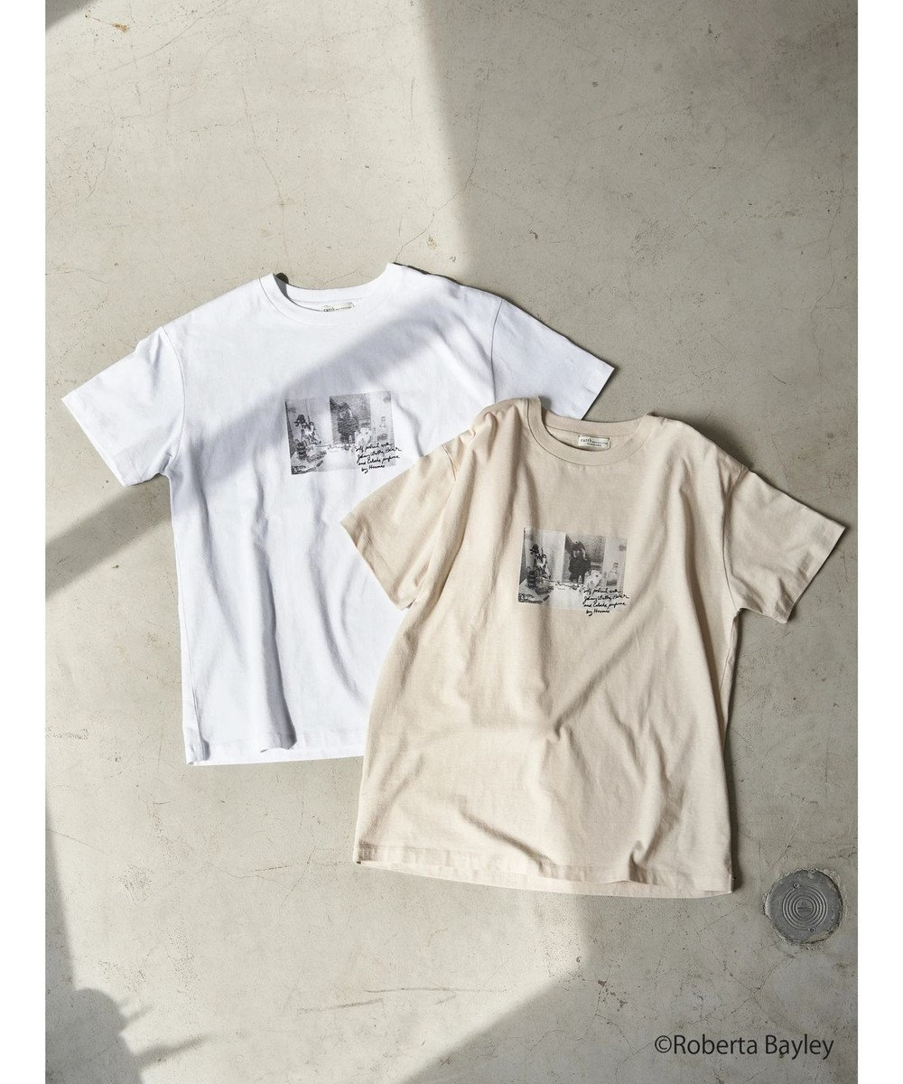 earth music&ecology 【WEB限定】Roberta Bayley Tシャツ A Off White