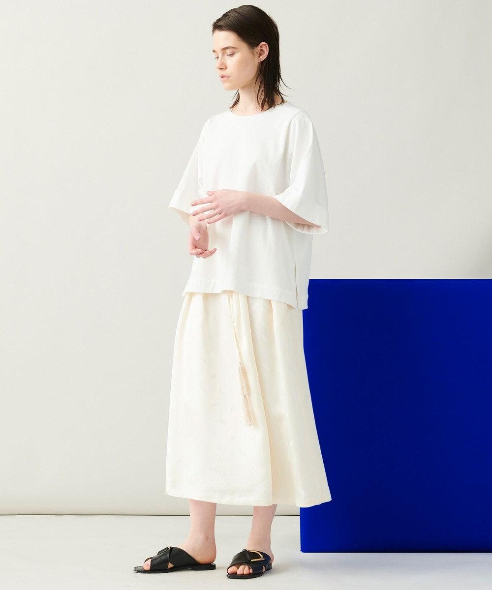 JOSEPH 【 柚香 光さん着用・洗える】スクエアジャージー Tシャツ ホワイト系