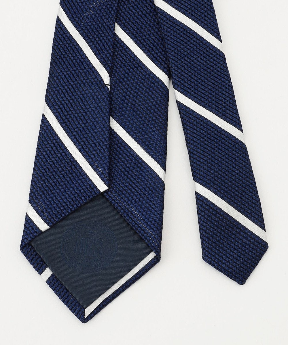 J.PRESS MEN ワンダーフレスコ シングルストライプ ネクタイ ブルー系1