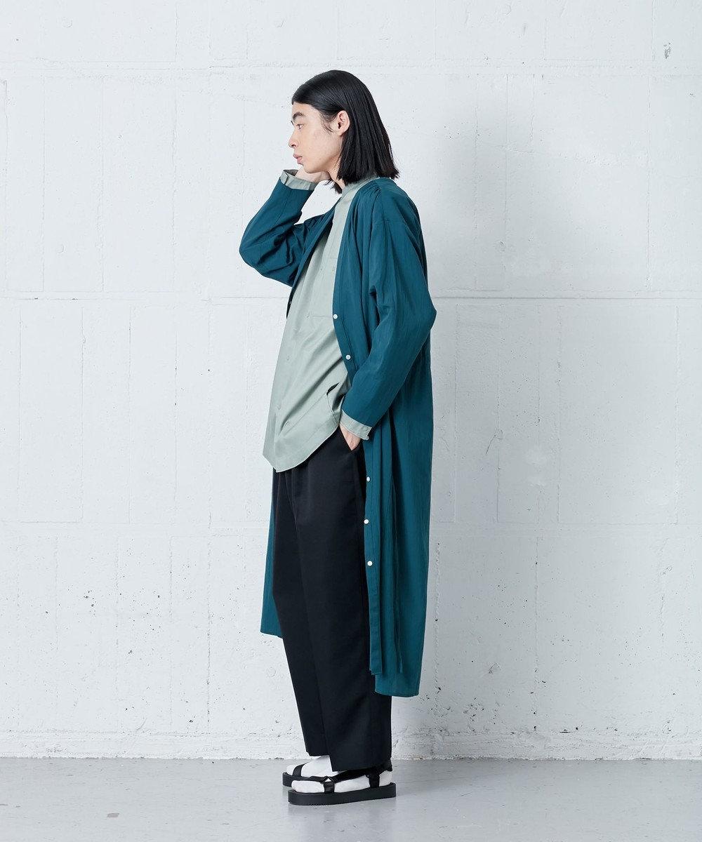 ONWARD Design Diversity 【IIQUAL】スタンドカラー シャツ カーキ系