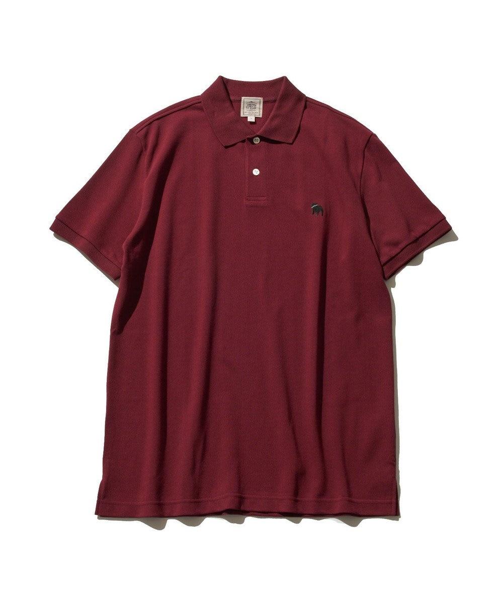 J.PRESS MEN 【大人気】アメリカンコットン 鹿の子 バックブル ポロシャツ レッド系