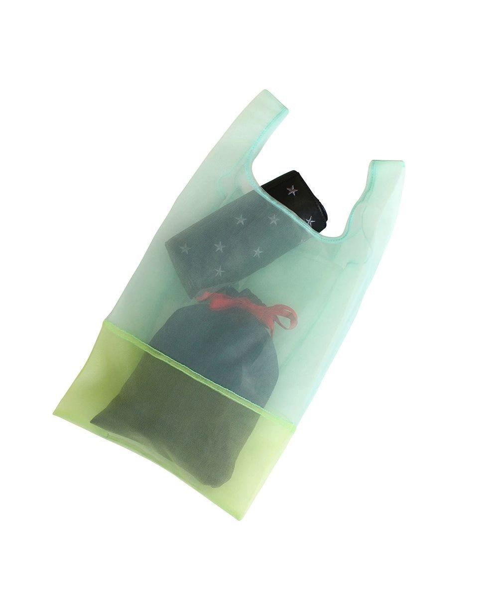 ROOTOTE 0376【直営店限定商品:オーガンジーエコバッグ】/ EU.RSルーショッパー.MID.SUK-A 03:ミント/イエロー