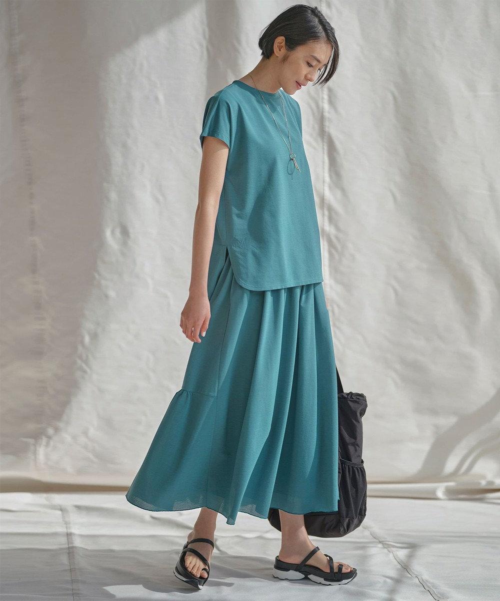自由区 【UNFILO・Sサイズ有】 カノコジャージー スカート ピーコックグリーン