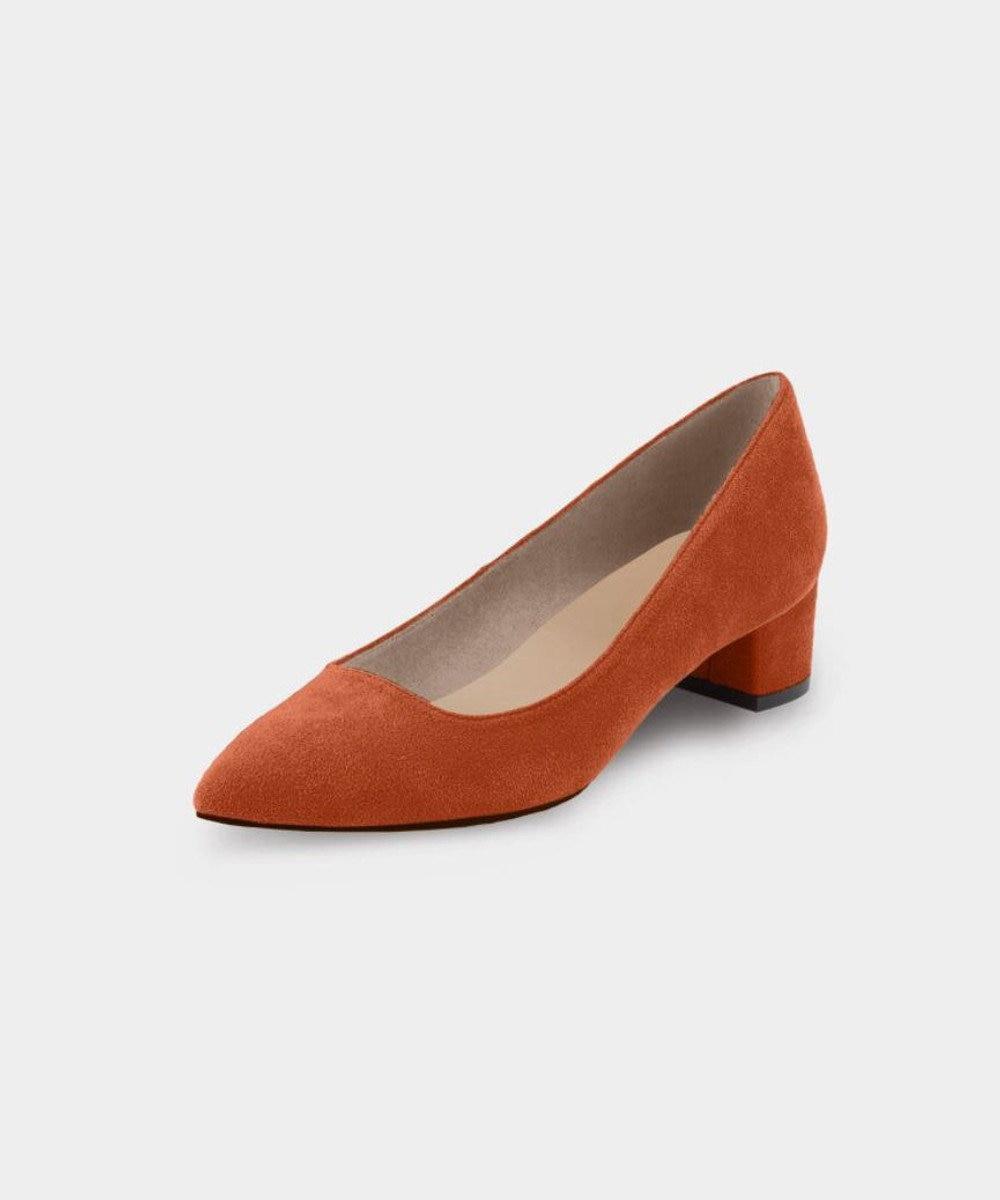 KASHIYAMA Women's shoes 【受注生産】ヒールパンプス(3.5cm) テラコッタ