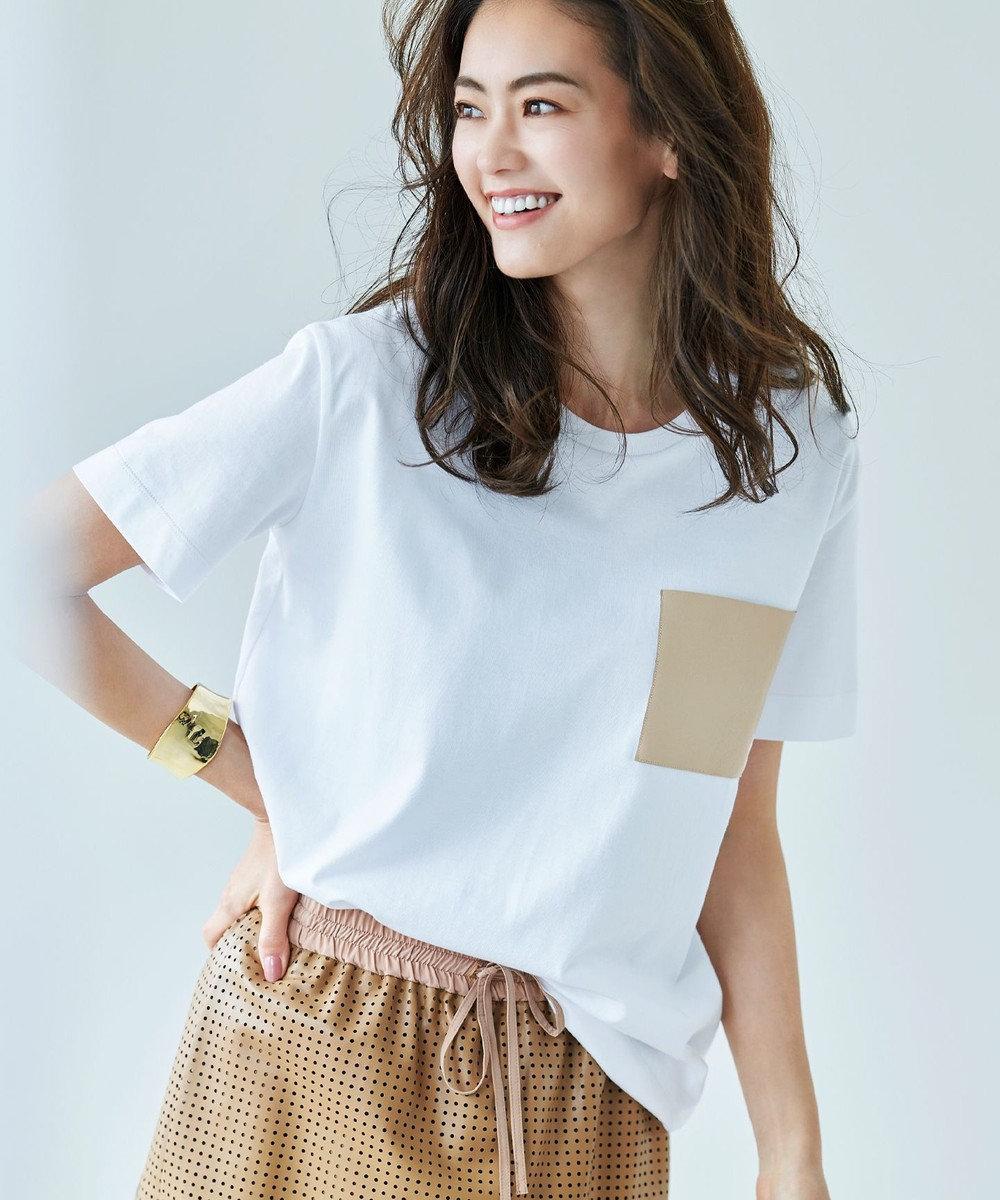 BEIGE, 【全カラー再入荷】GAGNY / Tシャツ White × Beige
