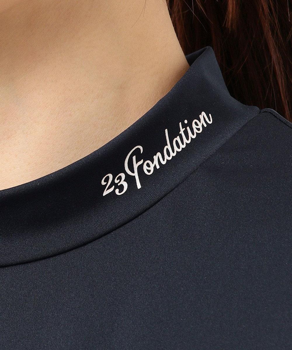 23区GOLF 【WOMEN】【Fondation/WEB限定】【UV/日本製】モックネック シャツ ネイビー系