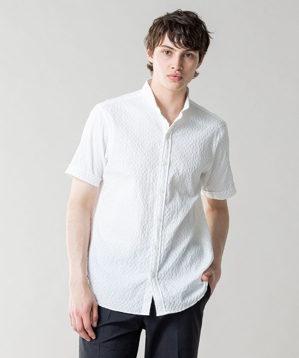 JOSEPH MEN トライジャガードストレッチ シャツ ホワイト系