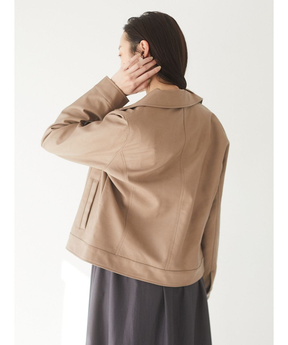 Green Parks ・ELENCARE DUE Wライダースブルゾン Gray Beige