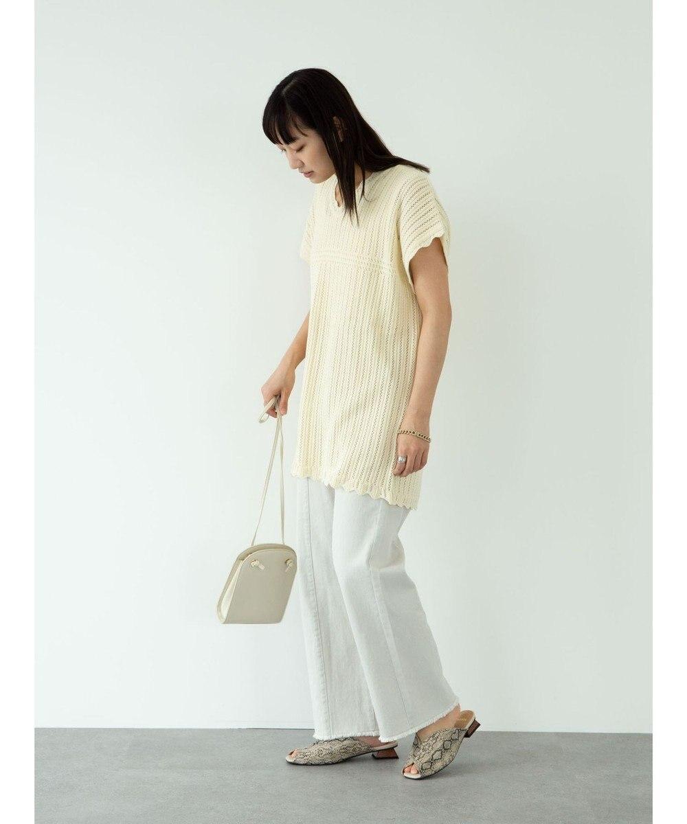 Green Parks ・Petit fleur スカシアミニットチュニック Ivory