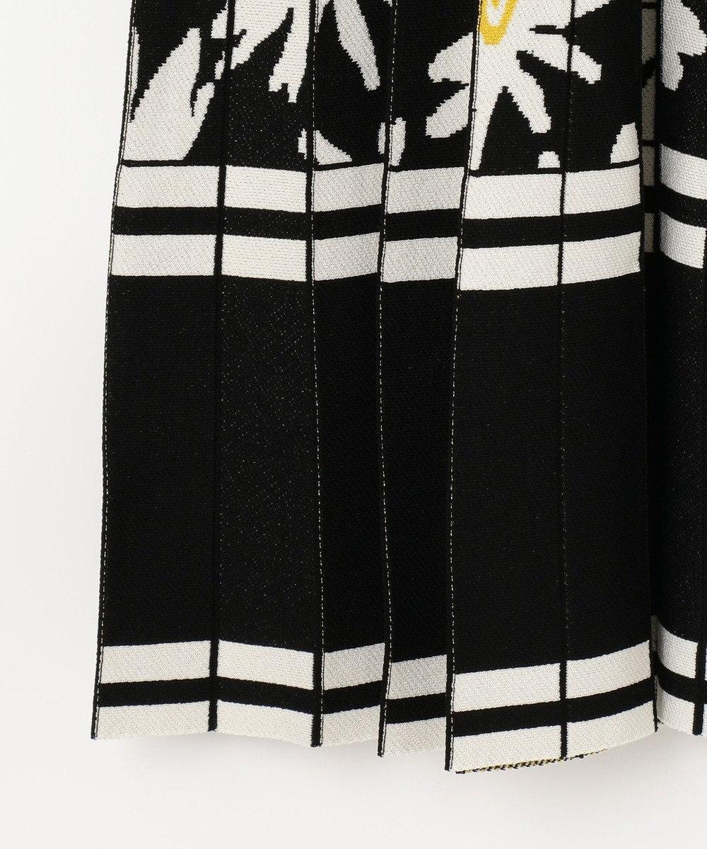GRACE CONTINENTAL フラワーJQニットスカート ブラック