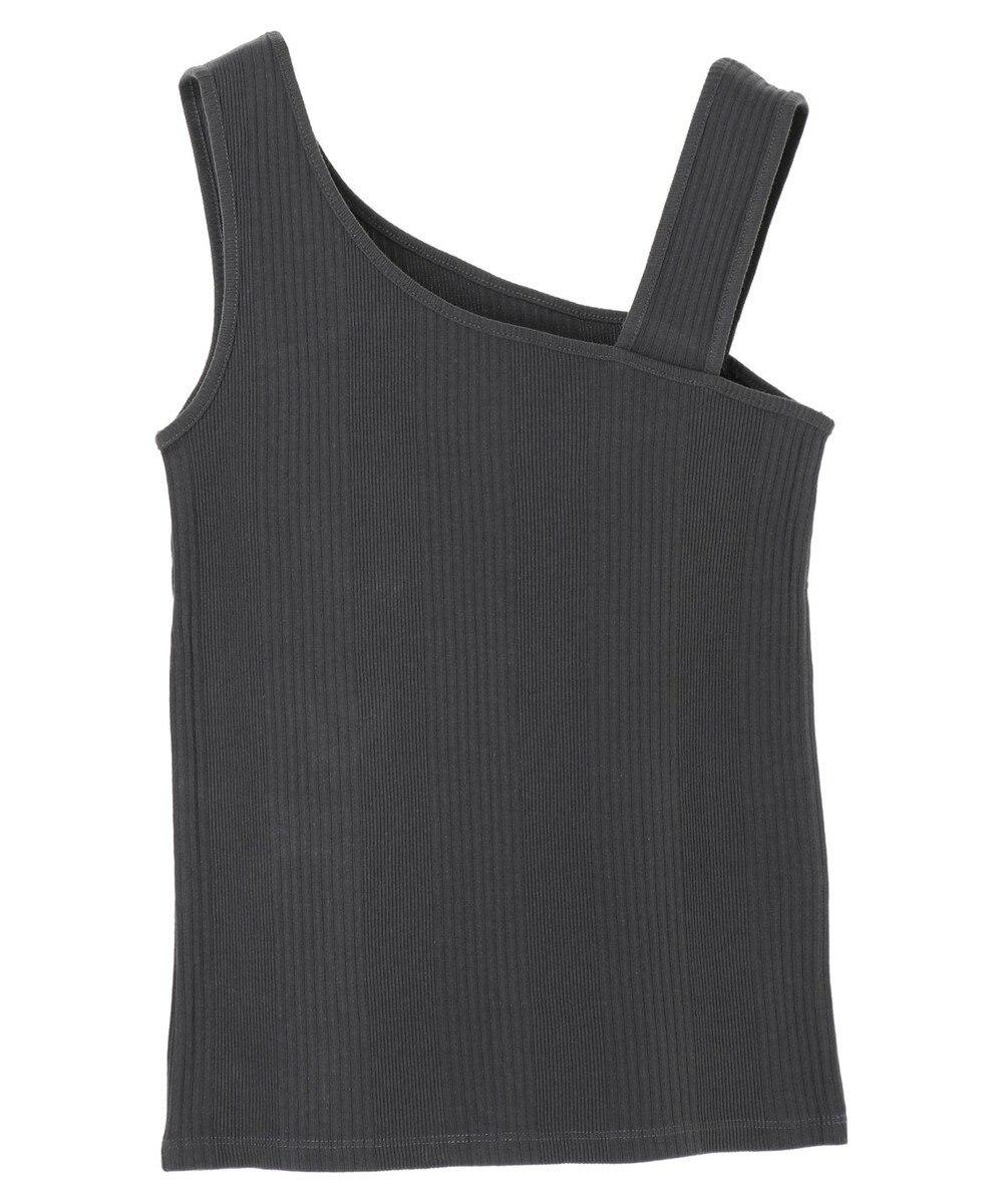 YECCA VECCA ・アシメショルダータンクトップ Charcoal Gray
