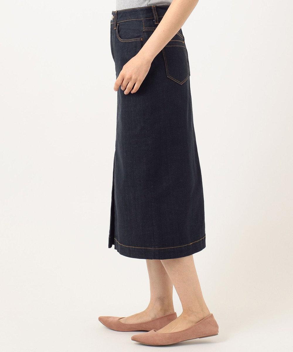 組曲 【洗える】AQUATIC DENIM デニムスカート ネイビー系