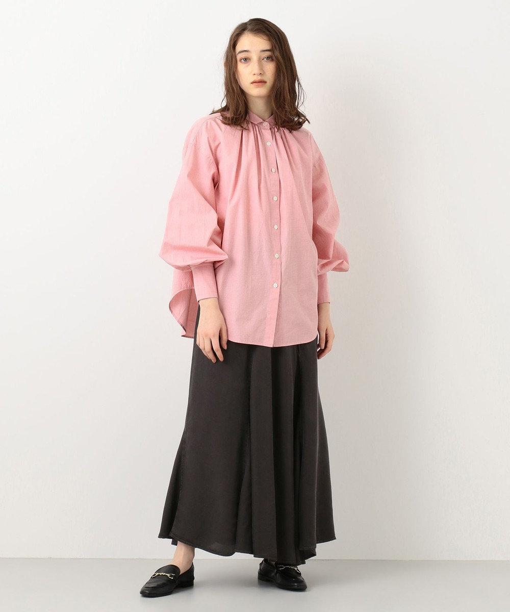 #Newans 【マガジン掲載】AUDREY/イタリアンカラーシャツ(番号NF46) レッド系