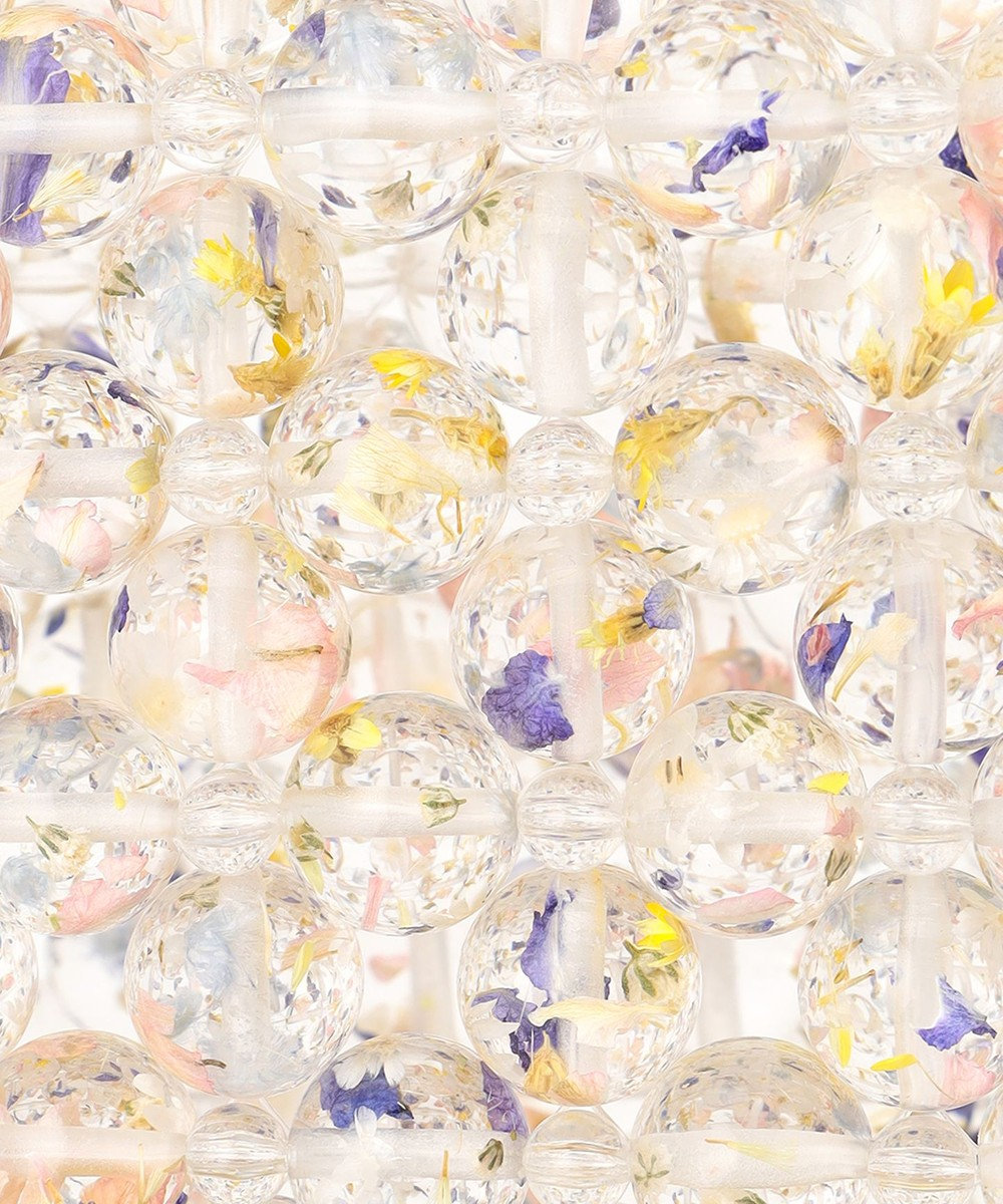 ANEVER 平手友梨奈さん着用【DAHLIA】ビーズニッティング バッグ ホワイト系