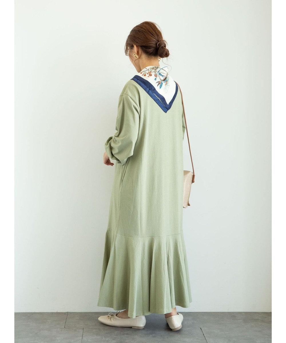 Green Parks ・SUGAR SPOON スソラッフルワンピース Light Khaki