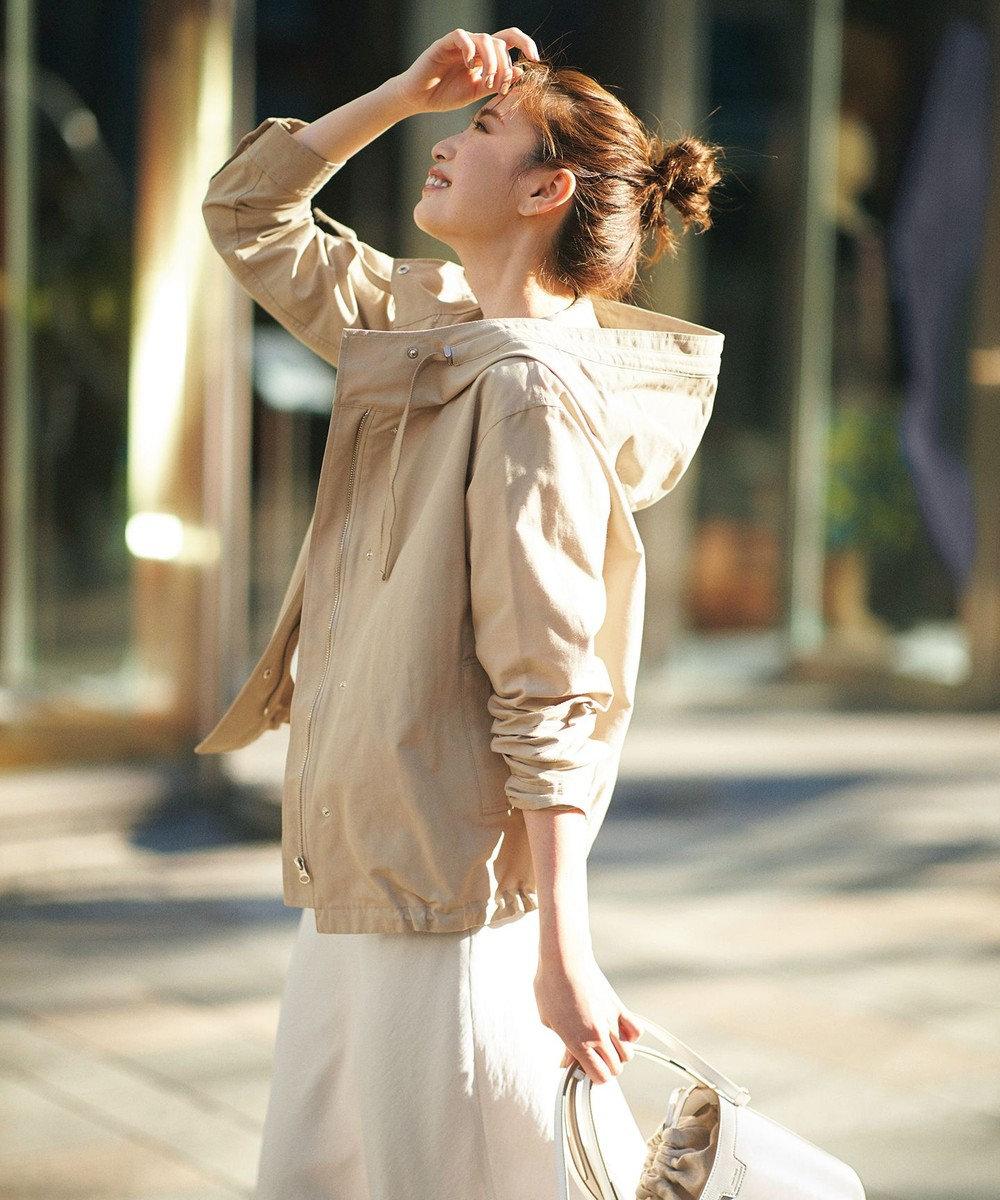 23区 S 【中村アンさん着用】テンセルサテンギャバ フレア スカート(番号2D26) アイボリー系