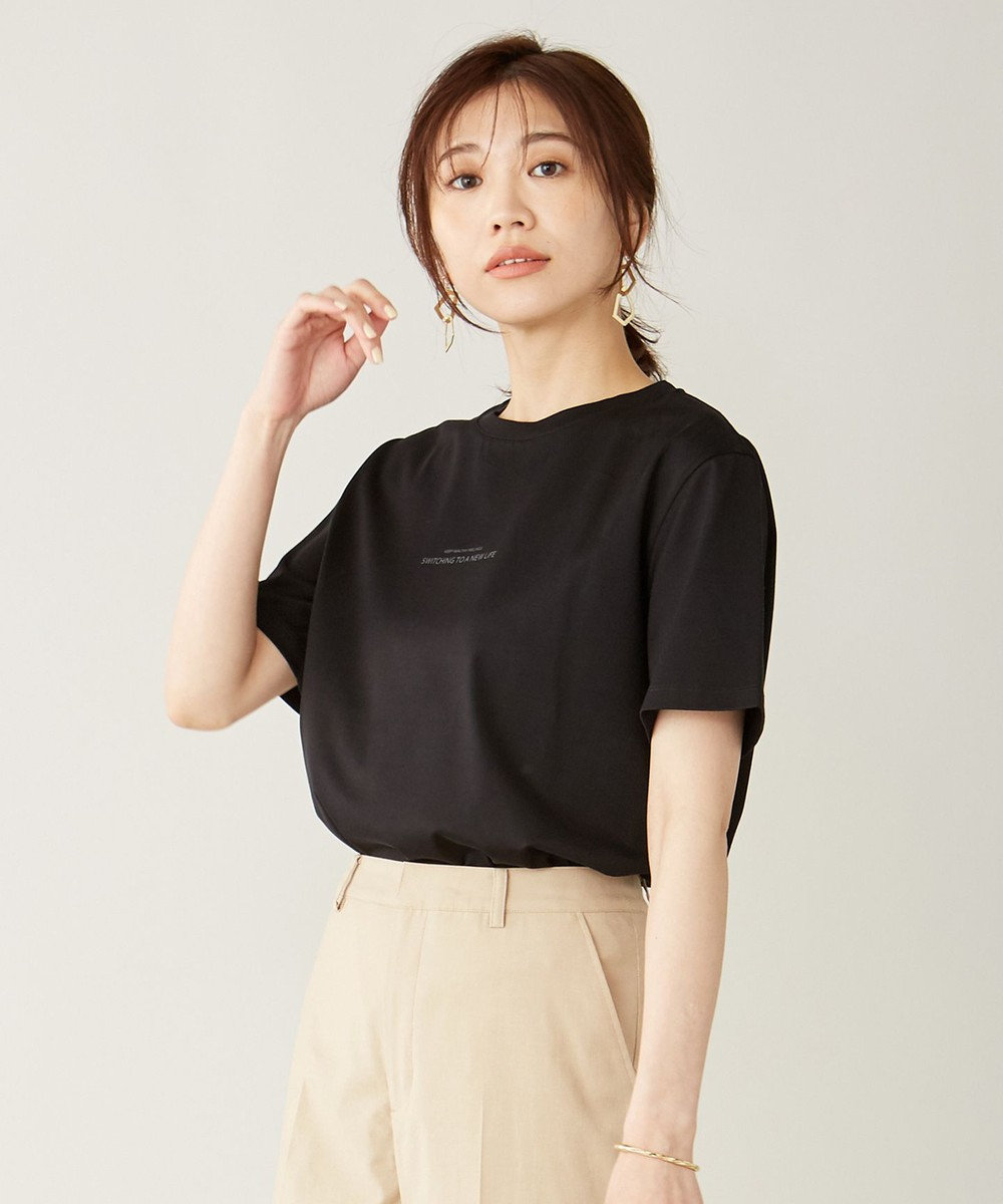 J.PRESS LADIES ミニロゴ Tシャツ ブラック系