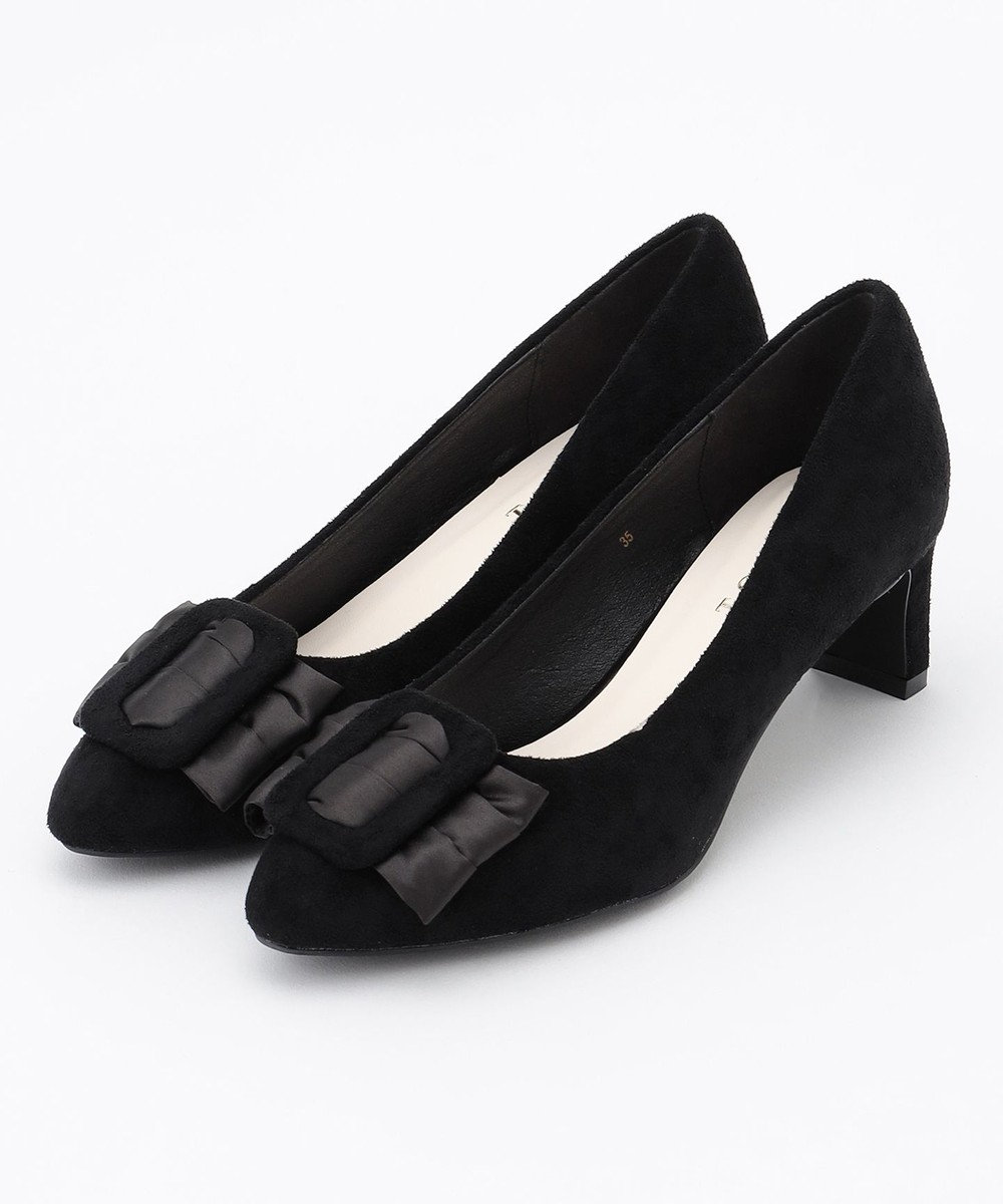 TOCCA BUCKLE RIBBON PUMPS パンプス ブラック系