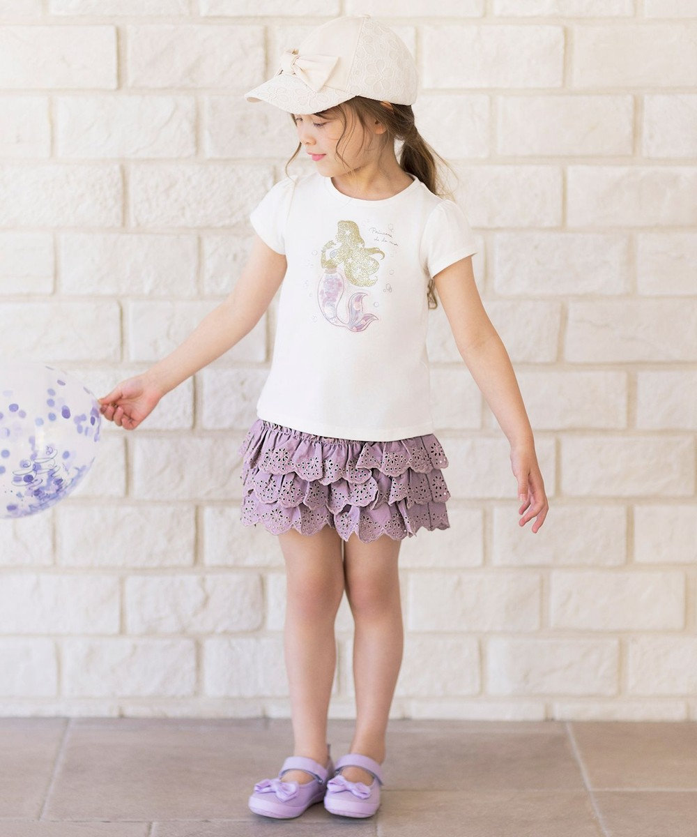 any FAM KIDS レースティアード キュロット ラベンダー