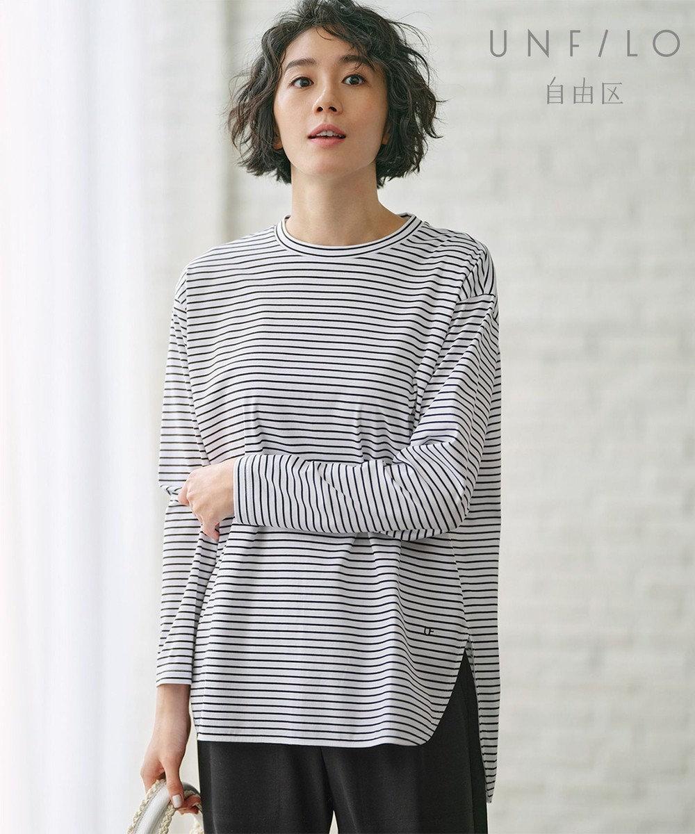 自由区 【UNFILO/Sサイズ有】ロングスリーブ Tシャツ アイボリー系1