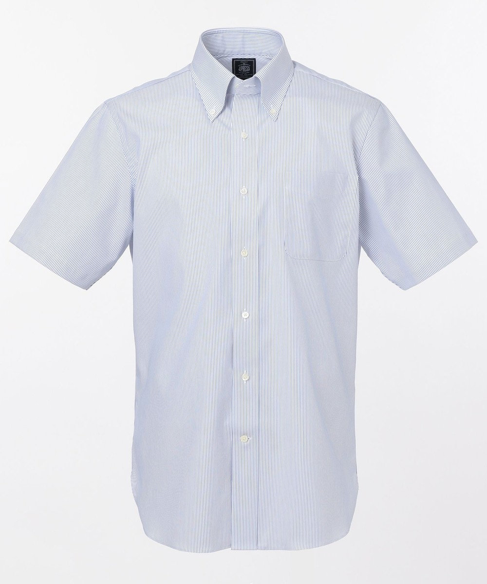 J.PRESS MEN 【PREMIUM PLEATS / 形態安定】マイクロストライプ 半袖シャツ / B.D. ネイビー系1