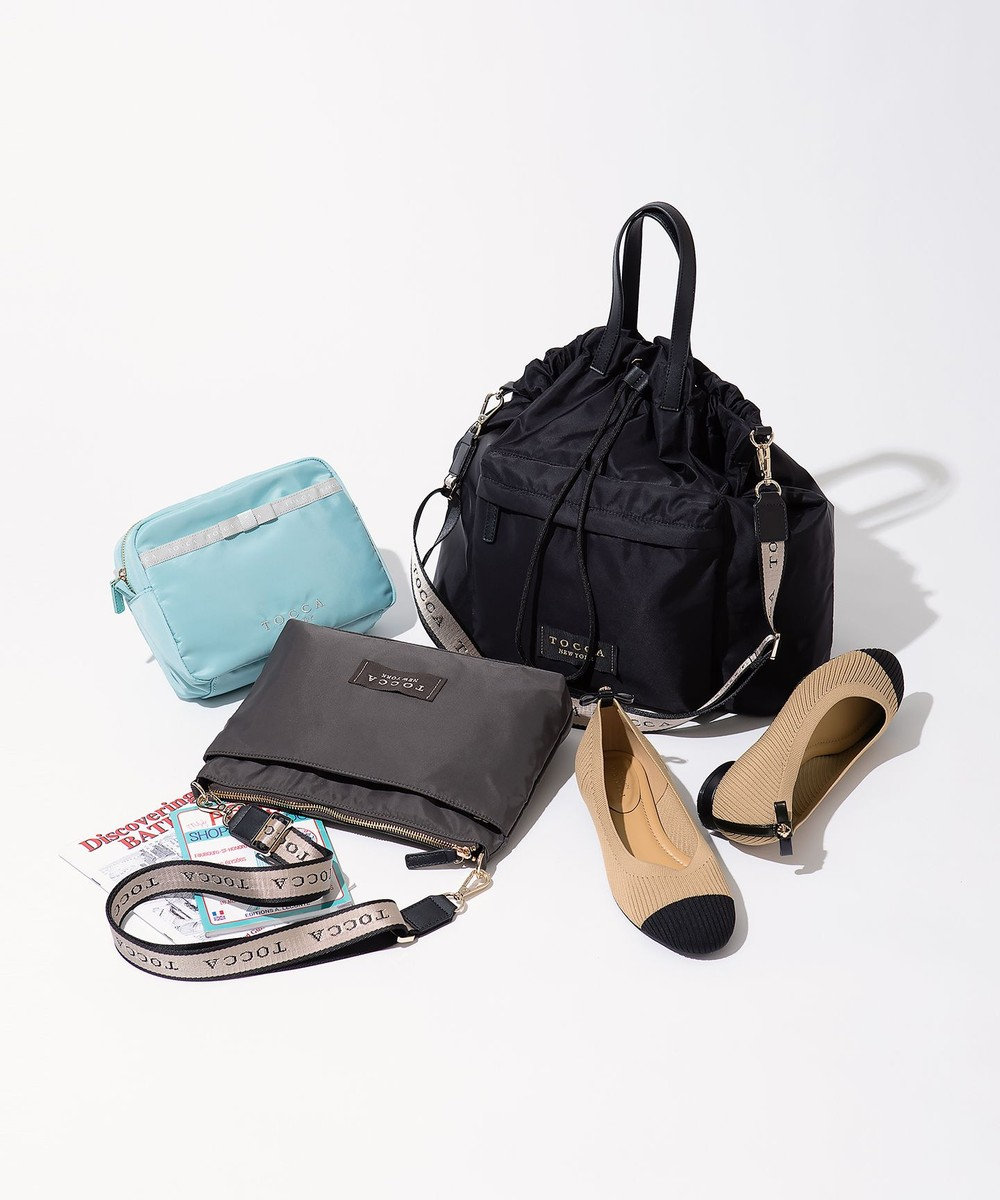 TOCCA CIELO 2WAY TOTE トートバッグ ブラック系