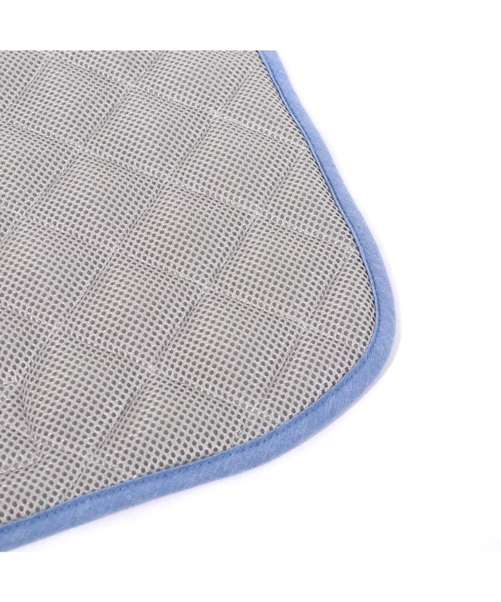 PET PARADISE ペットパラダイス リサとガスパール 接触冷感 ボーダー クールマット(48cm×40cm) 水色
