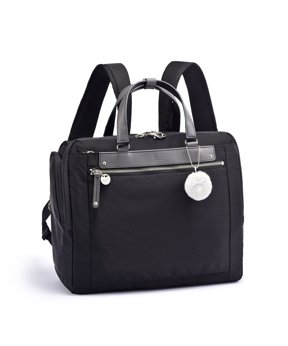ACE BAGS & LUGGAGE 【直営店限定】Kanana project/カナナプロジェクト アクティブリュック PJ3-4th RS Limitedヨコ型 中 67401 ブラック