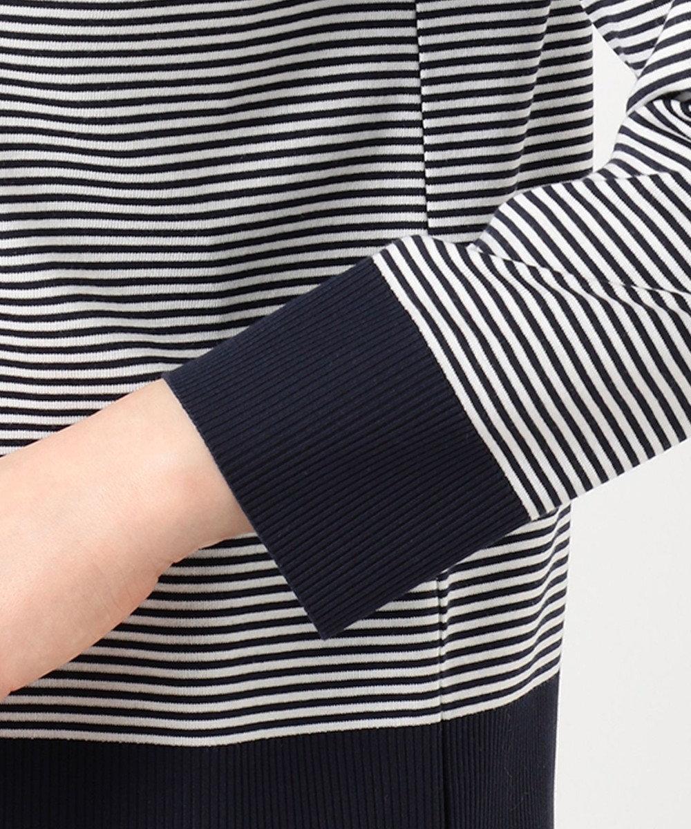 組曲 【洗える】コットンフライス セーターマシーン カーディガン ネイビー系1