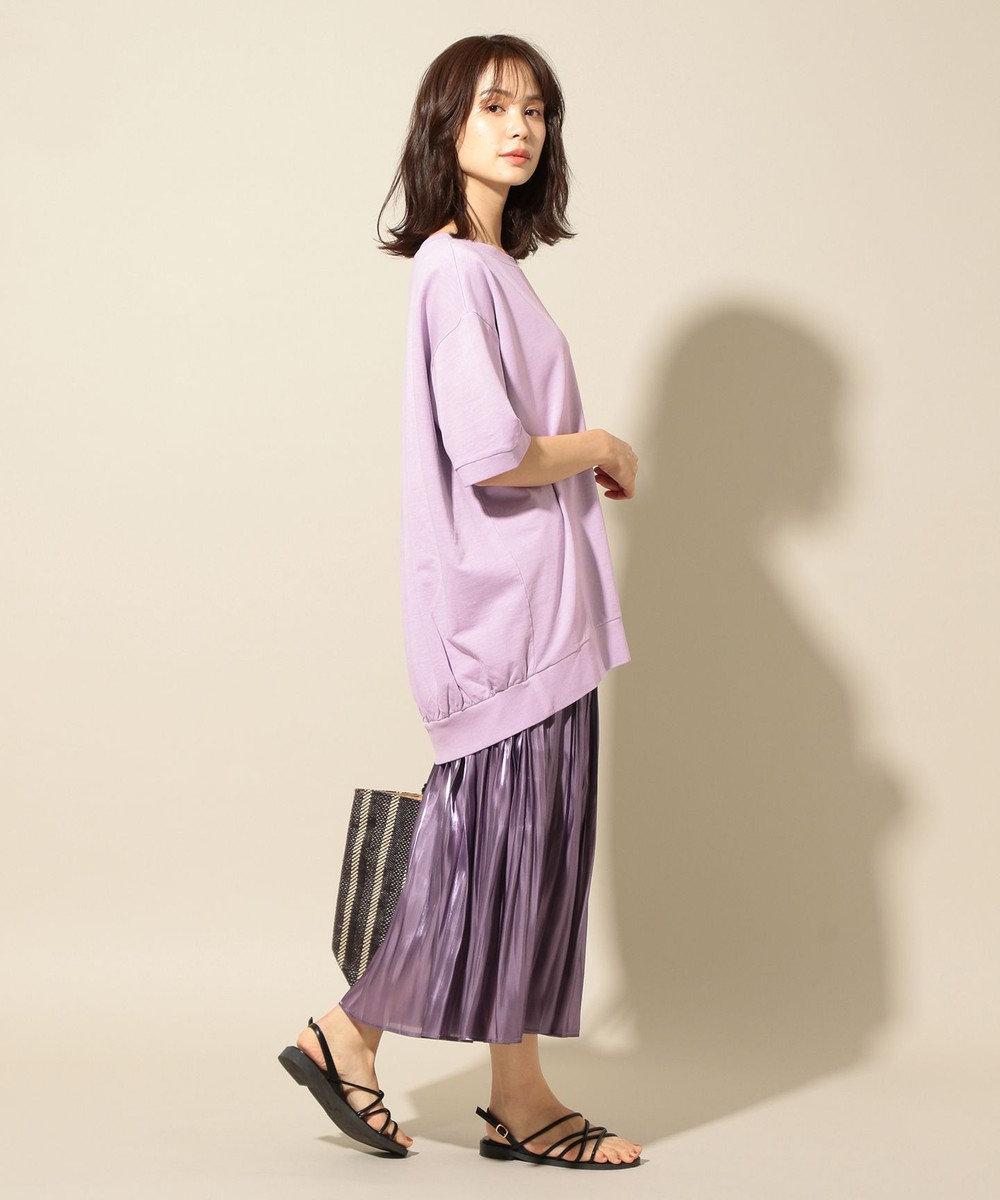 any FAM 【オーガニックコットン】オーガビッツミニ裏毛 Tシャツ ライラック系