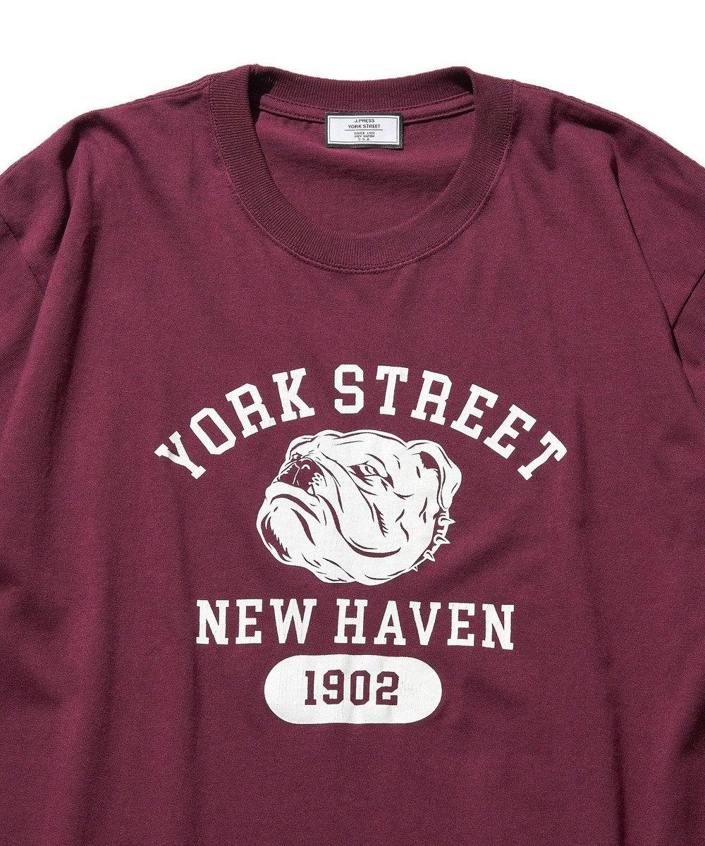 J.PRESS YORK STREET 【UNISEX】YORK STREET カレッジ Tシャツ ワイン系