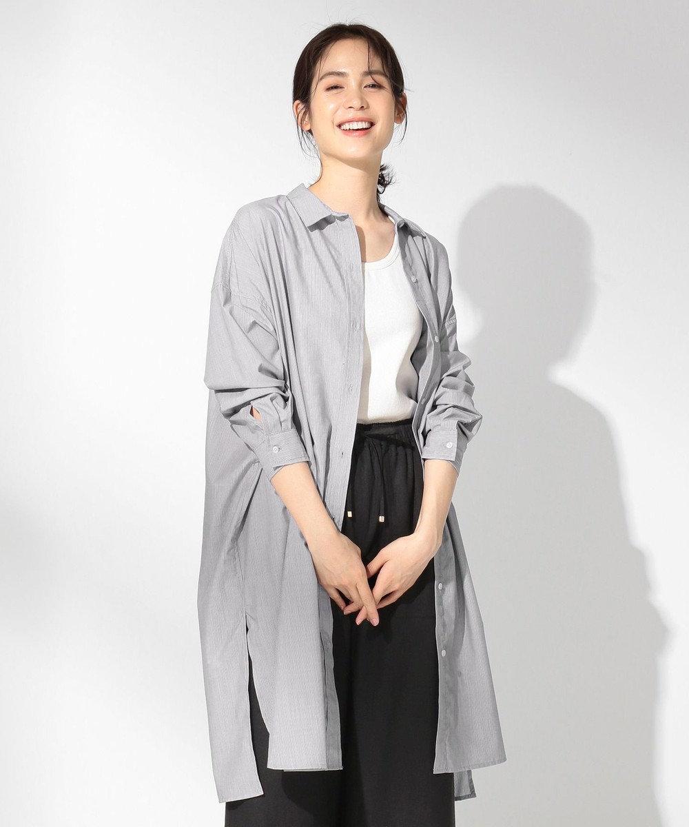 any FAM 【UVケア】【抗菌防臭】マルチファンクション ロングシャツ ブラック系1