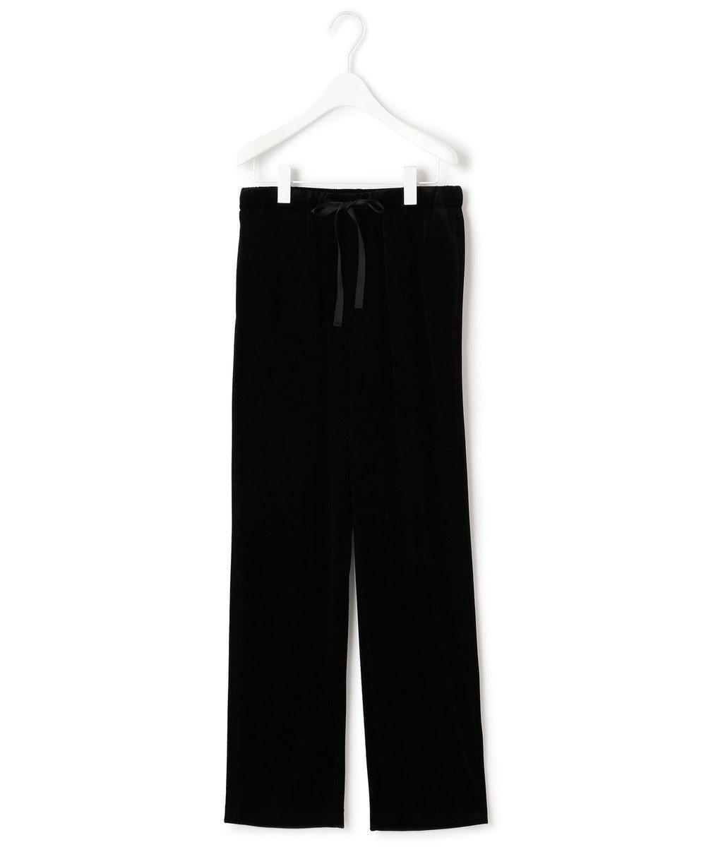 23区 S 【中村アンさんコラボ】リラックスストレートベロア パンツ(番号2F66) ブラック系
