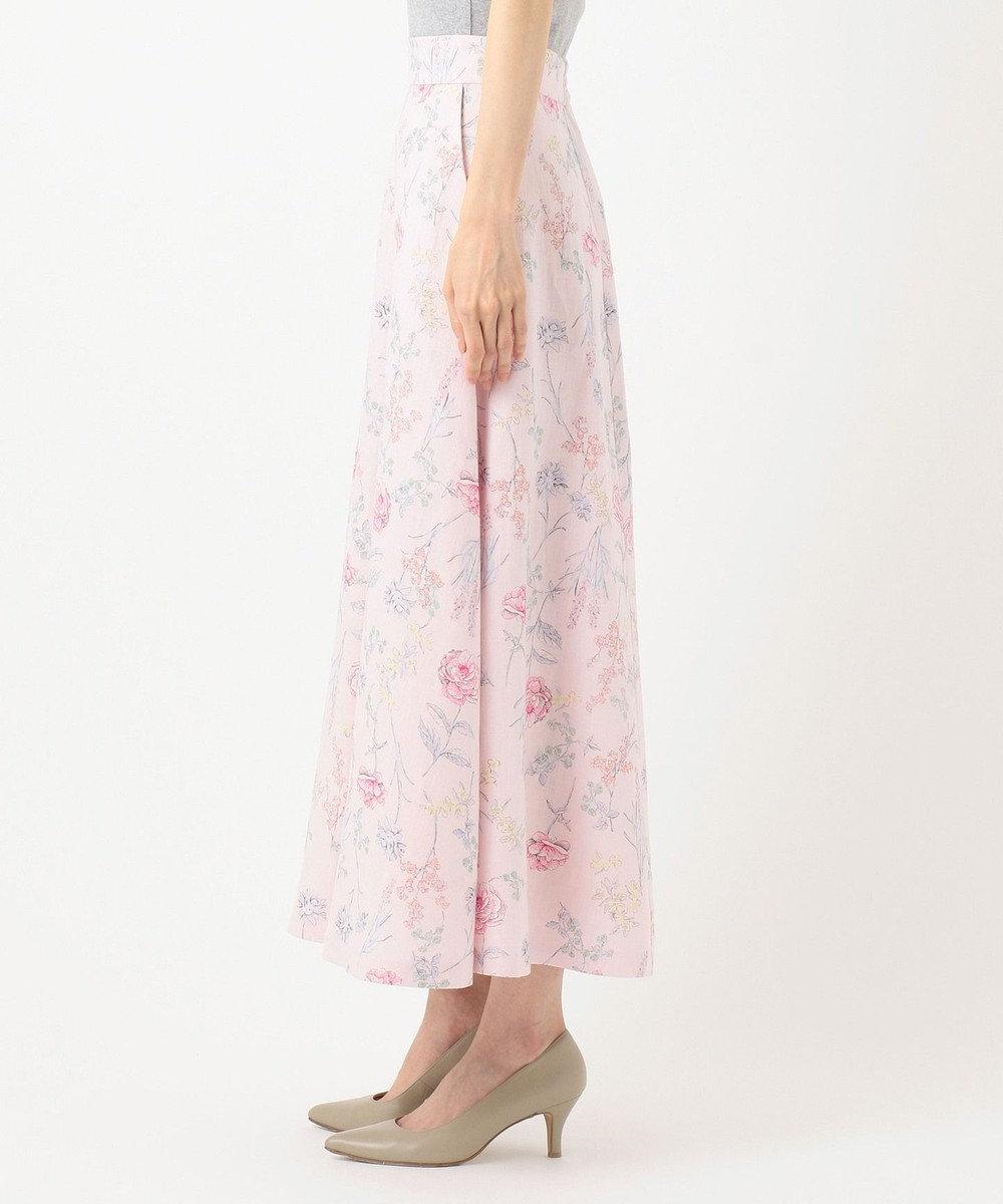 自由区 【Sサイズ有】BOTANICAL DYE フラワープリント スカート ライラック系5