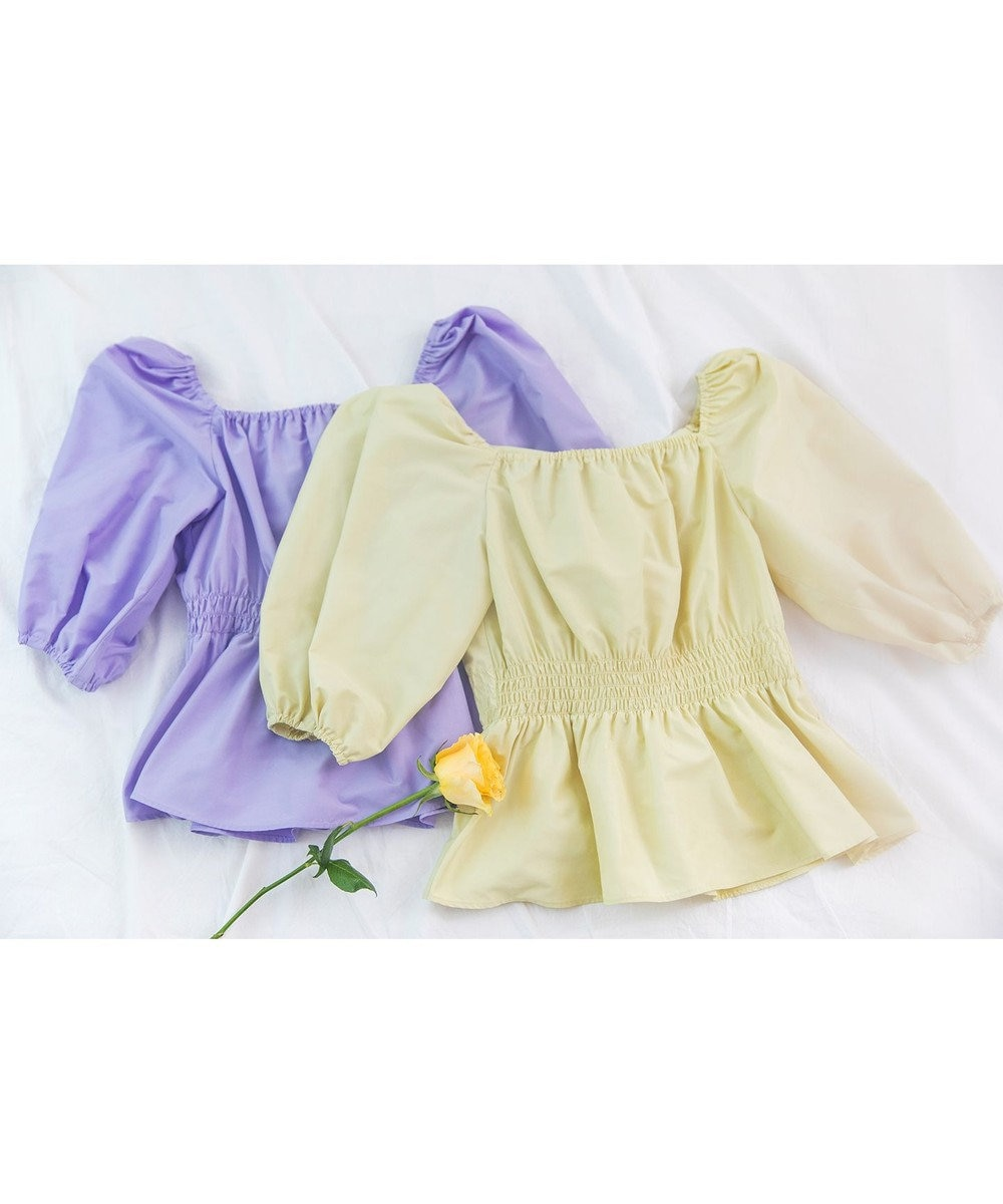 TOCCA 【TOCCA LAVENDER】Back Ribbon Puff Blouse ブラウス 黄緑系
