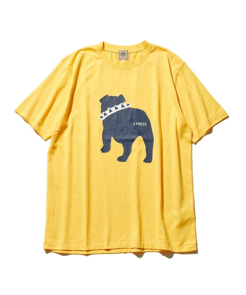 J.PRESS MEN 【WEB限定カラー&サイズ有】【UNISEX】バックブルドック Tシャツ イエロー系