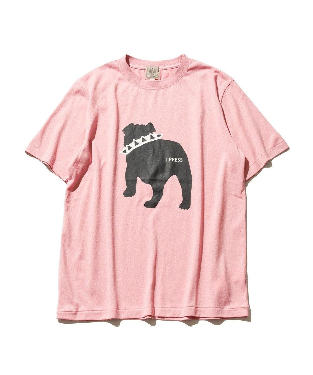 J.PRESS MEN 【WEB限定カラー&サイズ有】【UNISEX】バックブルドック Tシャツ ピンク系