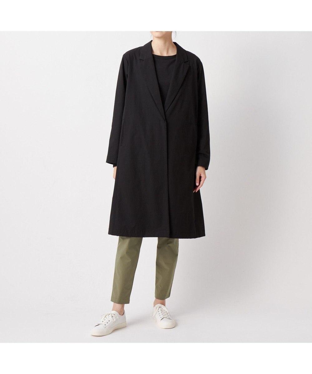 DANSKIN 【ストレッチ・UVケア・撥水・スタッフサック付き】スプリングコート ブラック