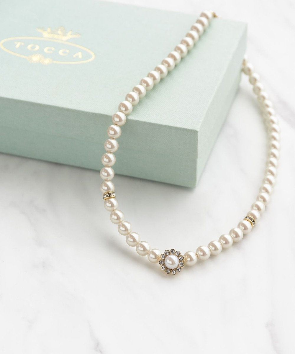 TOCCA NOBLE PEARL NECKLACE ネックレス ホワイト系